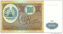 TADJIKISTAN 100 ROUBLES 1994 UNC P 6 - Tadjikistan