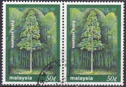 Malesia, 2000 - 50c Dyera Costulata, Coppia - Nr.795b Usato° - Malesia (1964-...)