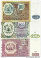 TADJIKISTAN 100-200-500 ROUBLES 1994 UNC P 6-7-8 ( 3 Billets ) - Tadjikistan