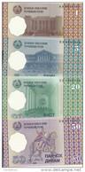 TADJIKISTAN 1-5-20-50 DRAM 1999 UNC P 10-11-12-13 ( 4 Billets ) - Tadjikistan