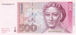 GERMANY 500 MARK 1991 P-43a EXF-AU (free Shipping Via Registered Air Mail) - 500 Deutsche Mark