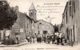 ENVIRONS DE NANCY MALZEVILLE RUE D'ALSACE-LORRAINE (CARTE PRECURSEUR) - France