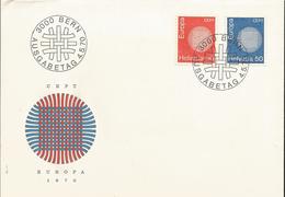 J) 1970 SWITZERLAND, EUROPA CEPT, RED AND BLUE CIRCLE, FDC - Switzerland