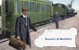SOUVENIR DE ROCHEFORT-SUR-MER  (ARRIVEE DU TRAIN) - Rochefort