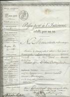 Passeport à L'intérieur, Fait à Dunkerque En Avril 1832, ( 3 Scans) Modb13201 - Documenti Storici