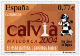 Ref. 133374 * NEW *  - SPAIN . 2004. 36th CHESS OLYMPIAD. 36 OLIMPIADA DE AJEDREZ - 1931-Today: 2nd Rep - ... Juan Carlos I