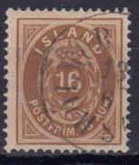 ISLANDIA 1876 Nº 9 TIPO A 14X13 1/2 USADO - Gebraucht