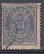 ISLANDIA 1876 Nº 14 TIPO A 14X13 1/2 USADO - Gebraucht