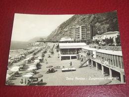 Cartolina Deiva Marina - Lungomare E Spiaggia 1950 Ca ** - La Spezia