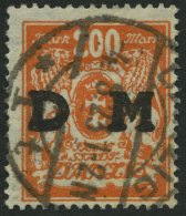 DIENSTMARKEN D 38 O, 1923, 200 M. Rötlichorange, Pracht, Gepr. Dr. Oechsner Und Infla, Mi. 40.- - Danzig