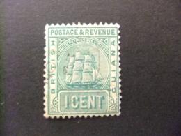 GUYANE BRITANNIQUE 1891 - 02 Yvert 80 FU Fil CA Couronne - British Guiana (...-1966)