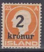 ISLANDIA 1924/26 Nº 110 NUEVO - Gebraucht