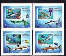 S.Tome 2009 Sharks Imperf. DeLuxe (Glossy Cardboard) MNH - Marine Life