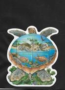 RO) 2005 WALLIS AND FUTUNA, TURTLE CHELOMIA-GREEN,  HABITAT, ODD SHAPE MNH - Wallis And Futuna