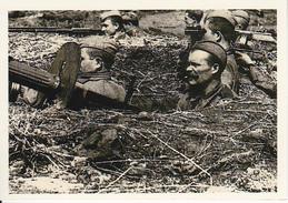 Foto Russische Soldaten Mit MG In Stellung - 2. WK - 9*6cm - Repro (29166) - Repro's