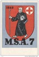 Einheitskarte Sanität/Glarus - M.S.A. 7 - WWII - 1940 - Suisse