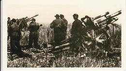 Foto Deutsche Soldaten Mit Geschützen - 2. WK - 9*5cm - Repro (29169) - Repro's
