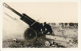 Foto Soldaten Mit Geschützen - 2. WK - 9*5cm - Repro (29170) - Repro's
