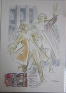Carte Postale - FDC - Personnage Révolution - Mirabeau - 1989 - YT 2565 - Bignon Mirabeau - Forget - Cartes-Maximum