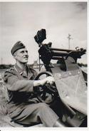 Foto Deutscher Soldat Mit Flak - 2. WK - 9*7cm - Repro (29175) - Repro's