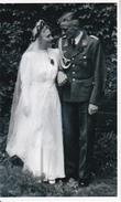 Foto Deutscher Soldat Mit Braut - Hochzeit - 2. WK - 9*6cm - Repro (29176) - Repro's