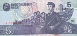 Korea, North #40, 5 Won 1998 Issue Banknote Currency Money - Korea, North