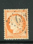 FRANCE- Y&T N°38- Oblitéré (orange Très Vif!!!) - 1871-1875 Ceres