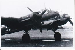 Foto Deutscher Zweimotoriger Bomber - HE 111 (?) - 2. WK - 9*6cm - Repro (29184) - Repro's