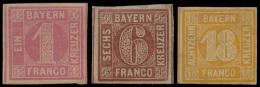 N° 3, 4-II En 7, 3 Goed Gerande Zegels M - Bavaria