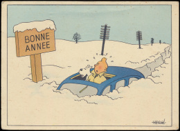 Hergé, Nieuwjaarskaart (1 Stuk) - Unclassified