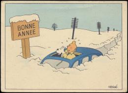 Hergé, Nieuwjaarskaart (1 Stuk) - Postcards