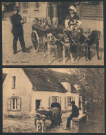 Melkmeisjes, W.o. 3 Met Hondenkar (4 Stu - Postcards