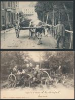 Gespannen Met Een Os, Met Een Paard En M - Postcards