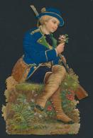 Poësieprentjes, Boerenmeisje, Bloemenmei - Old Paper