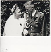 Foto Deutscher Soldat Mit Braut - Hochzeit - 2. WK - 9*7cm - Repro (29202) - Repro's