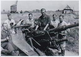 Foto Deutsche Soldaten Mit Flak In Stellung - 2. WK - 9*6cm - Repro (29208) - Repro's