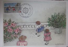 Carte Postale - FDC -Europa - 1989 - YT 2584 - Strasbourg - Marelle - Antonini - 1980-89