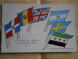 COLLECTION DES DRAPEAUX DES NATIONS UNIES - IX - PUB UNION DE PHARMACOLOGIE -CARTE Cpa - Regiments