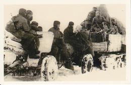 Foto Soldaten Auf Geschütz Und Kettenfahrzeug - 2. WK - 9*5cm - Repro (29214) - Repro's