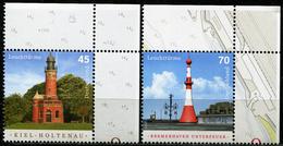 BRD - Michel 3316 / 3317 ECKE REO - ** Postfrisch (D) - 45-70C  Leuchttürme Holtenau, Unterfeuer, Ausg: 08.06.207 - Unused Stamps