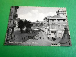 Cartolina Genova Sampierdarena - Piazza Montano 1960 Ca - Genova (Genoa)