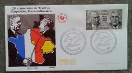 RFA - FDC 1988 - YT N°1183 - TRAITE SUR LA COOPERATION FRANCO-ALLEMANDE - BONN - DDR