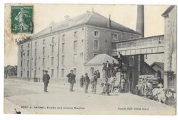 Cpa: 70 PORT SUR SAONE (ar. Vesoul) Entrée Des Grands Moulins (attelage De Boeufs) - France