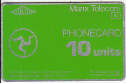 ISLE OF MAN(L&G) - Telecom Logo, First Issue 10 Units, CN : 741A, Tirage 14500, Used - Isle Of Man