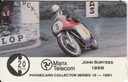 ISLE OF MAN(GPT) - TT Races 1991/John Surtees, CN : 9IOMC, Tirage 5045, Mint - Isle Of Man
