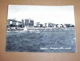 Cartolina Cattolica - Panorama Della Spiaggia 1957 - Rimini