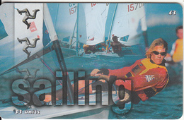 ISLE OF MAN(chip) - Natwest Island Games 2001/Sailing, Tirage 6000, Used - Isle Of Man