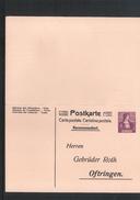 Schweiz Postcard Registered - Postfrisch / MNH - Interi Postali