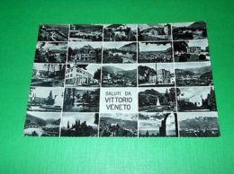 Cartolina Saluti Da Vittorio Veneto - Vedute Diverse 1953 - Treviso