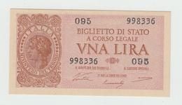Italy 1 Lire 1944 UNC NEUF P 29a  29 A - [ 1] …-1946 : Royaume
